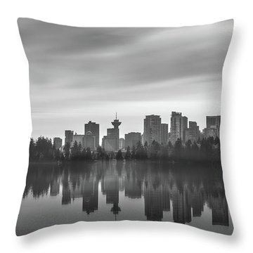 Downtown Vancouver Throw Pillow