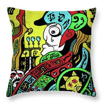 Throw Pillow featuring the digital art Emperor by Sotuland Art