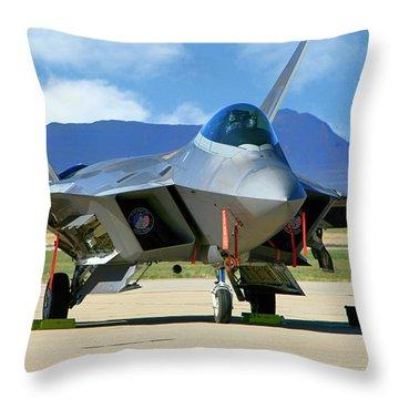 F22 Rapter Throw Pillow