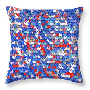 Funky Sequins Throw Pillow