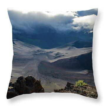 Haleakala Crater Throw Pillow