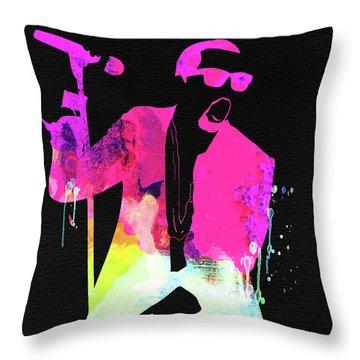 Kanye Watercolor Throw Pillow