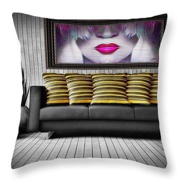 Lady Fashion Beauty Throw Pillow