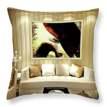 Lady Feast Nature Throw Pillow