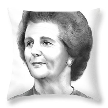 Margaret Thatcher Throw Pillow
