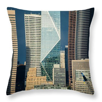 Modern Architecture In City, Seattle Throw Pillow