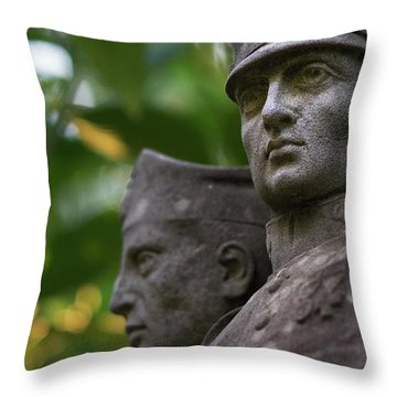 Throw Pillow featuring the photograph Monument To The Duchess Of Victory Genoves Park Cadiz Spain by Pablo Avanzini