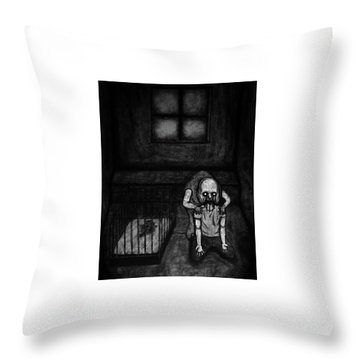 Nightmare Chewer - Artwork Throw Pillow