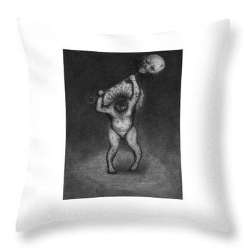 Nightmare Rattler - Artwork Throw Pillow