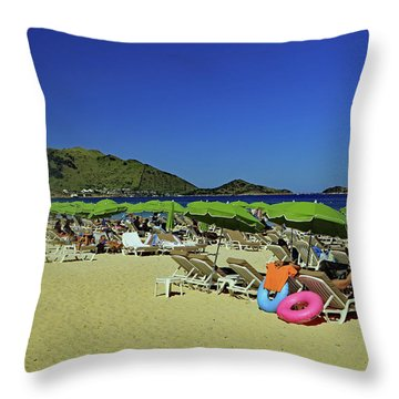 Throw Pillow featuring the photograph On The Beach by Tony Murtagh