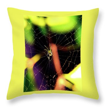 Web Of Hearts Throw Pillow