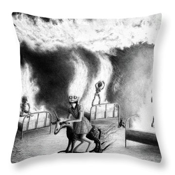 Philippa The Crackling Rider - Artwork Throw Pillow