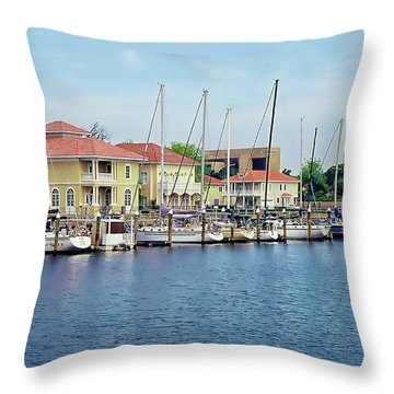 Throw Pillow featuring the photograph Port Royal by Anthony Dezenzio