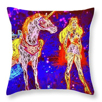 She - Ra And Swift Wind Throw Pillow