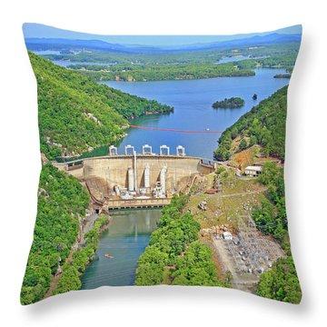 Smith Mountain Lake Dam Throw Pillow