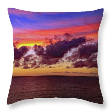 Throw Pillow featuring the photograph Sunset by Tony Murtagh