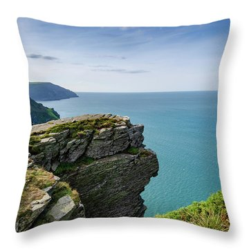 Valley Of The Rocks Views Throw Pillow
