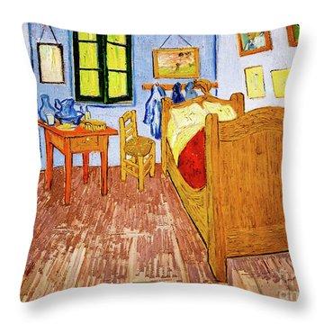 Van Gogh's Bedroom At Arles Throw Pillow