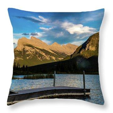 Vermillion Lakes, Banff National Park, Alberta, Canada Throw Pillow