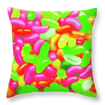 Vibrant Jelly Beans Throw Pillow