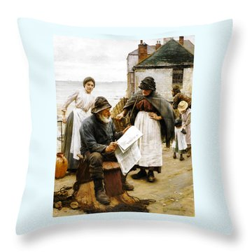 When The Boats Are Away Throw Pillow