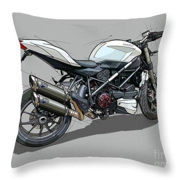 2015 Ducati Streetfighter Throw Pillow