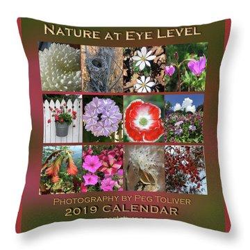 2019 Nature Calendar Throw Pillow