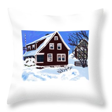 22 Hillside Avenue Throw Pillow