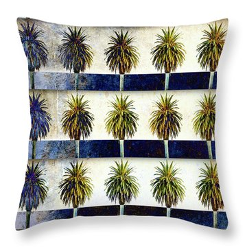 25 Palms Throw Pillow