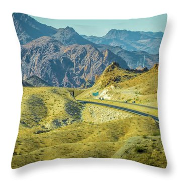 Throw Pillow featuring the photograph Red Rock Canyon Landscape Near Las Vegas Nevada by Alex Grichenko