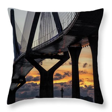 Throw Pillow featuring the photograph 1812 Constitution Bridge Cadiz Spain by Pablo Avanzini