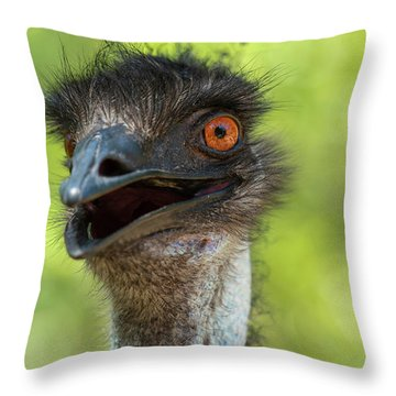 Throw Pillow featuring the photograph Australian Emu Outdoors by Rob D Imagery