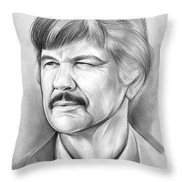 Charles Bronson Throw Pillow