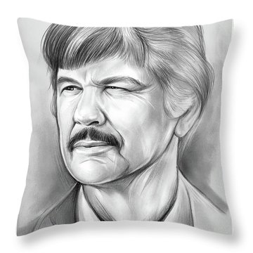 Charles Bronson Throw Pillow