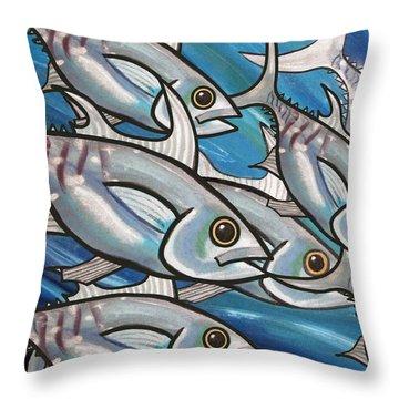 3 Fish Throw Pillow