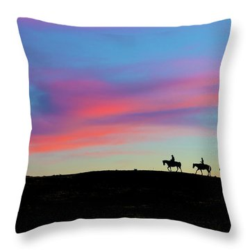 3 Horsemen Throw Pillow