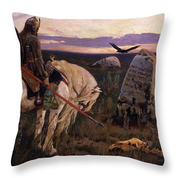 Knight At The Crossroads Throw Pillow