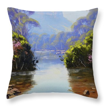 Megalong Creek Throw Pillow