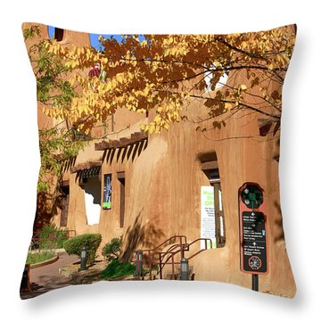 New Mexico Museum Of Art Throw Pillow