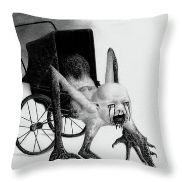 The Nightmare Carriage - Artwork Throw Pillow