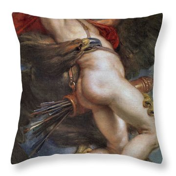 The Rape Of Ganymede Throw Pillow