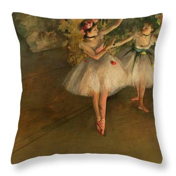 Two Dancers On A Stage Throw Pillow