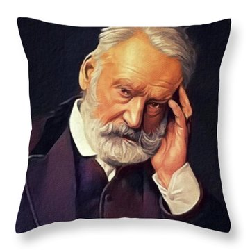 Victor Hugo, Literary Legend Throw Pillow