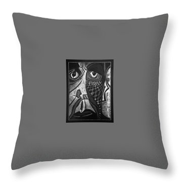 Weary. Throw Pillow