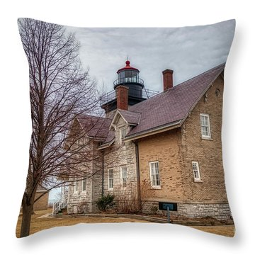 30 Mile Lighthouse  Throw Pillow