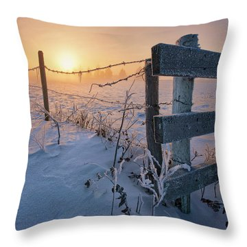 -30 Sunrise Throw Pillow