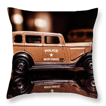 33 Plymouth Police Throw Pillow