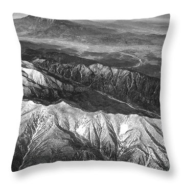 35,000 Feet Over Utah Throw Pillow