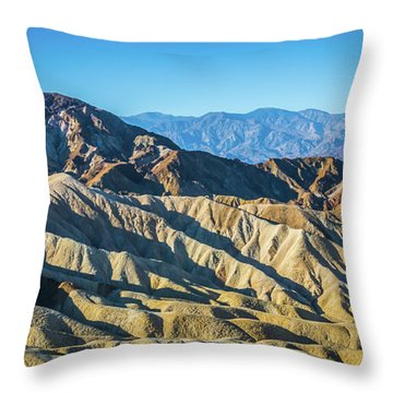 Throw Pillow featuring the photograph Death Valley National Park Scenes In California by Alex Grichenko