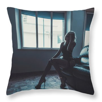Throw Pillow featuring the photograph 3913 by Traven Milovich